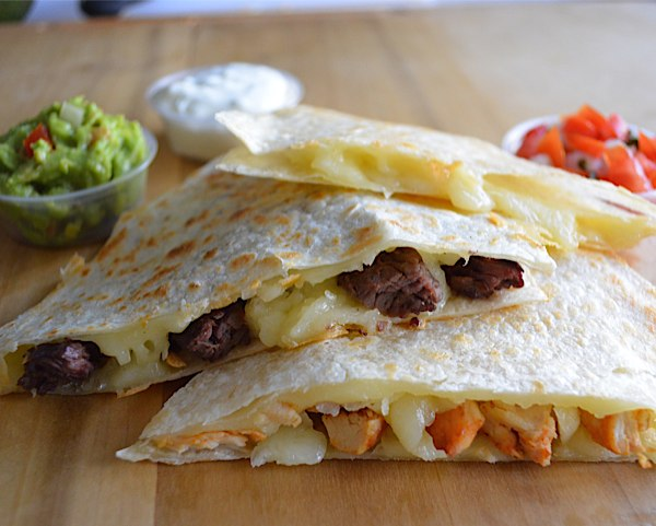 Chicken and Steak Quesadilla at Señor Grandes Fresh Mexican Grill