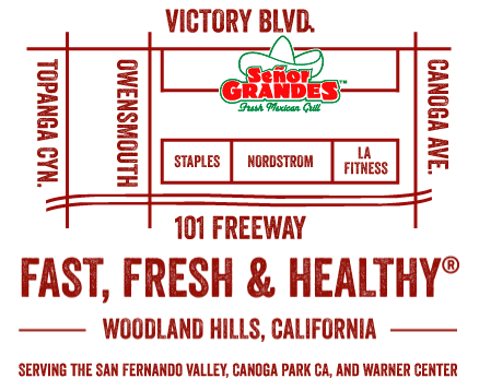 Map and Directions for Señor Grandes Fresh Mexican Grill
