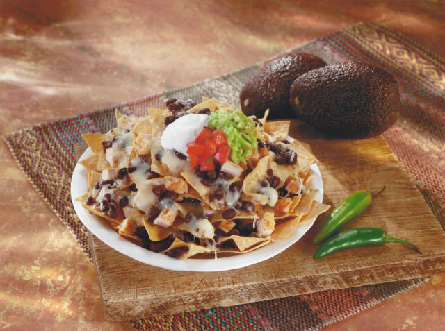 Nachos Grande with grilled skinless chicken at Señor Grandes Fresh Mexican Grill